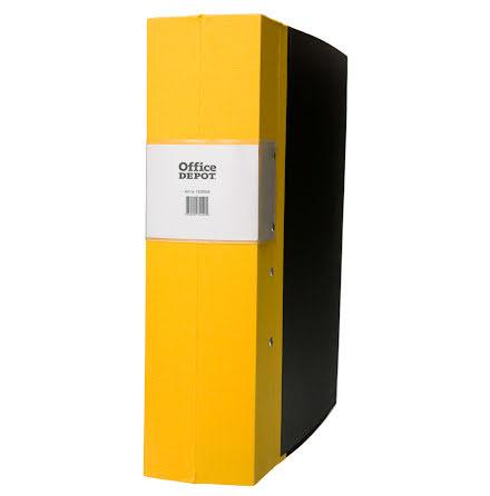Träryggspärm A4 80mm gul