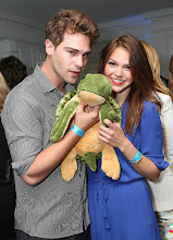 Photo: Grey Damon and Aimee Teegarden from upcoming CW Star-Crossed Celebrate World Oceans Day at Nautica's Oceana Beach House
