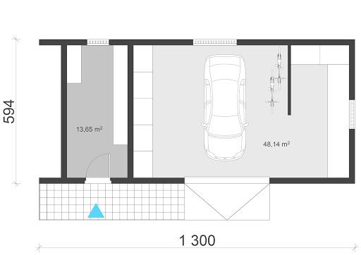 UAG3 - Rzut garażu