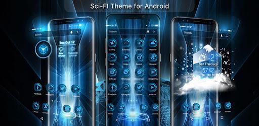 3D Technology Theme Launcher 2018 for PC