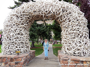 Photo: One of the elkhorn arches in Jackson, Wyoming