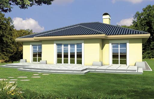 projekt Mila energo + wersja A z pojedynczym garażem