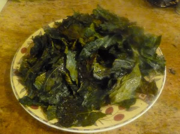 Crispy Baked Collard Chips