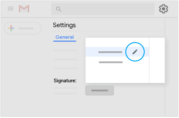 Modify an existing signature in Settings