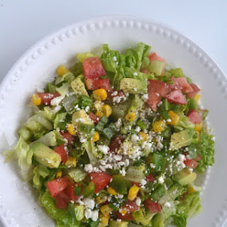 Avocado, Corn and Feta Chopped Salad