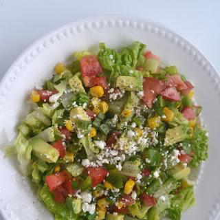 Avocado, Corn and Feta Chopped Salad.