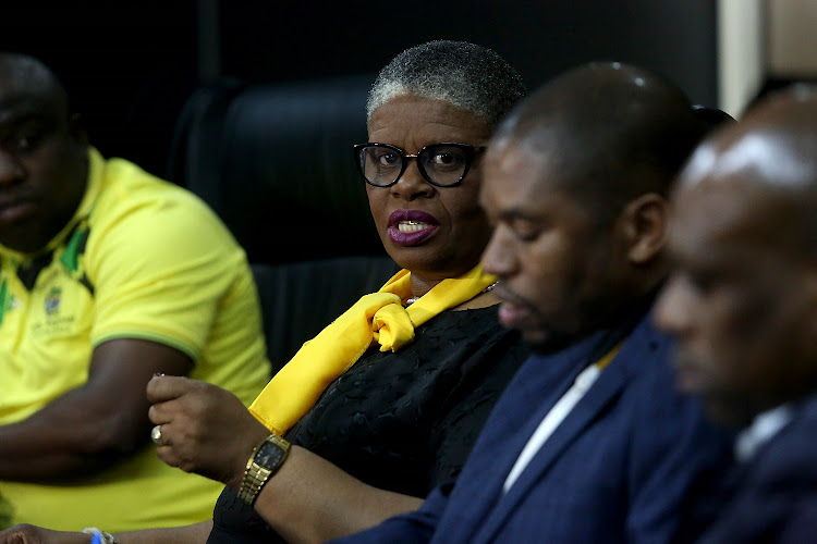 ANC eThekwini regional chair Zandile Gumede at the ANC media briefing in Durban.