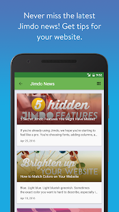Jimdo - Create Your Website- screenshot thumbnail