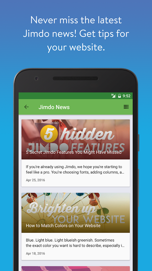 Jimdo - Create Your Website- screenshot
