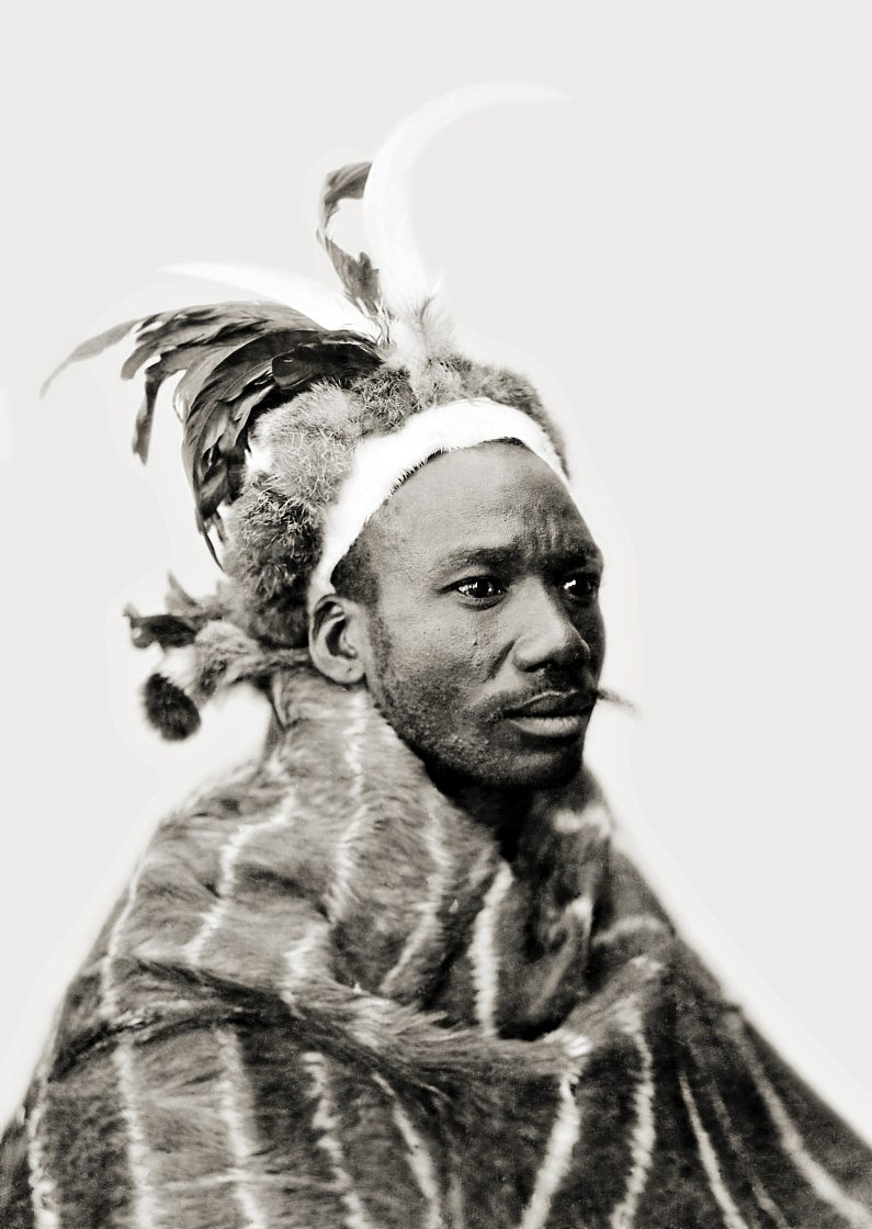 Portrait of Isaac Matiwana, acting chief regent of the Mpondomise, 1932, in the McGregor Museum.