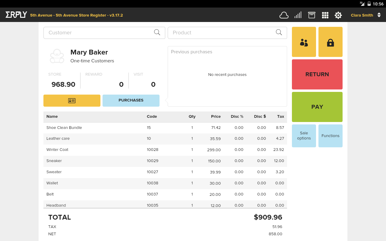 Retail POS- screenshot