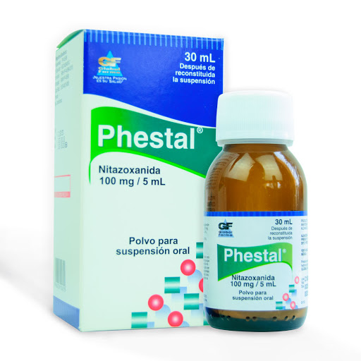 Nitazoxanida Phestal 100mg/5mL x Suspensión 30mL