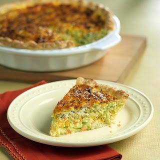 Broccoli Slaw and Garlic Quiche