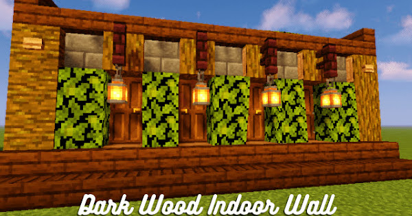Dark Wood Indoor Wall