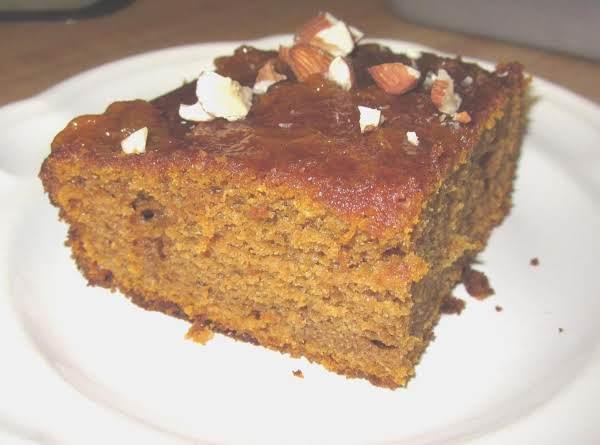 Pumpkin Spice Cake W/ Apricot Glaze