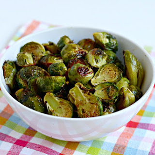 Roasted Brussels Sprouts with Maple Syrup.