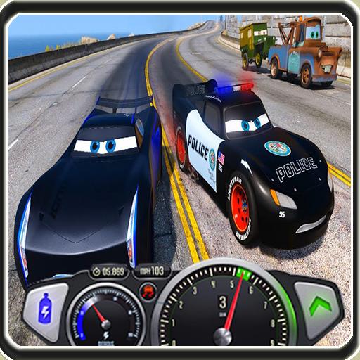Speed Top Police Car Lightning McQueen vs Jackso
