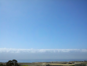 Photo: The massive fog wall came a'rollin' in.