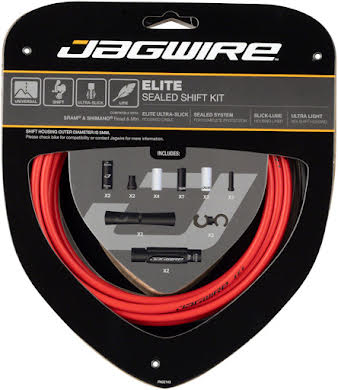 Jagwire Elite Sealed Shift Cable Kit SRAM/Shimano Ultra-Slick Uncoated Cables alternate image 1
