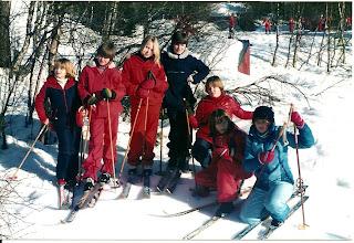Photo: På Kvamskogen. Fra venstre: Toril Lidal, Ingrid Hageberg, Karen Hansen, Sæbjørg Hageberg, Britt Lise Ekerhovd, Åsta Viksøy, Tove Nygård