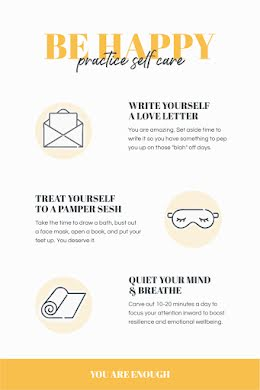 Be Happy Self Care - Pinterest Pin item