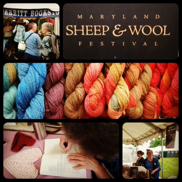 Photo: Special thanks to the organizers of The Maryland Sheep & Wool Festival and at Merritt Bookstore.