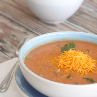 Cheesy Chicken Enchilada and Rice Soup.
