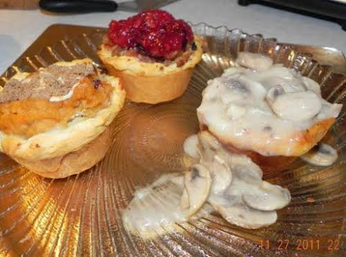 "Mini Thanksgiving Leftover Pies ""I love mini shepherd pies or anything smaller..."