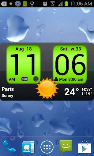Flip Clock xTheme Widget 4x2 screenshot 6