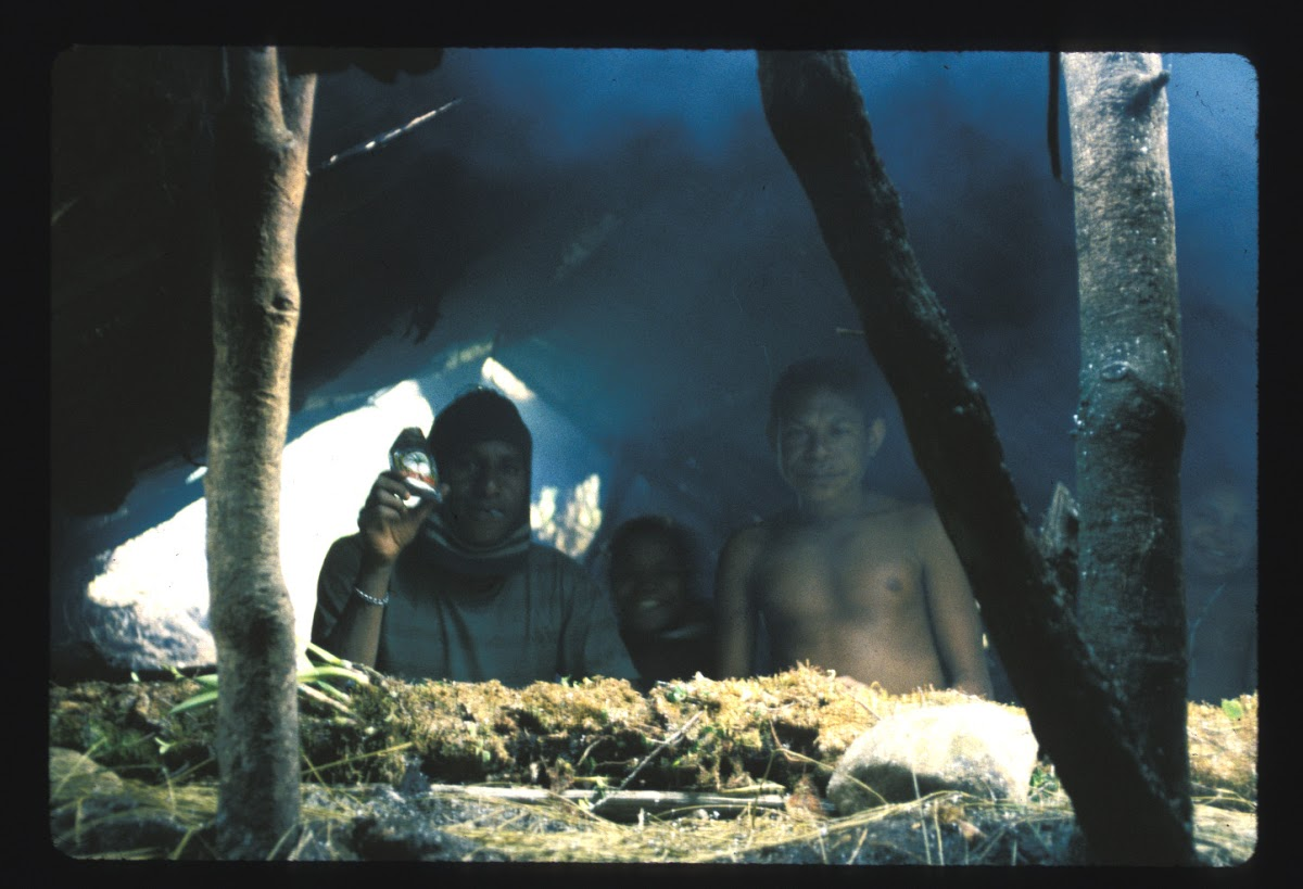 Papua. Tribes Baliem Valley Time Travel. The rustic inside of the hut to sleep one of the nights.