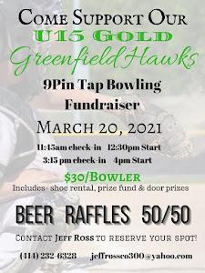 Greenfield Hawks 9 Pin Tap Bowling Fundraiser