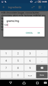 FoodScanner screenshot 4