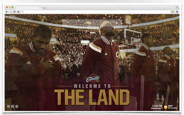 Cleveland Cavaliers(Cavs) Wallpapers New Tab - Chrome Webshop