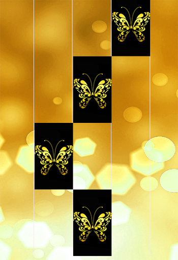 Gold Glitter ButterFly Piano Tiles 2018 1.4 DreamHackers 4
