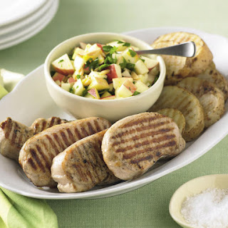 Grilled Pork Tenderloin with Potatoes and Apple Salsa