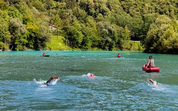 Photo: Swimming in river Soca near Tolmin in Slovenia.