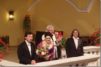 Photo: Schlosskonzerte Weikersdorf 2014. Russi Nikoff, Anna Ryan, Wolfgang Gröhs, Manfred Equiluz und Raul Iriarte, Foto:Herta Haider