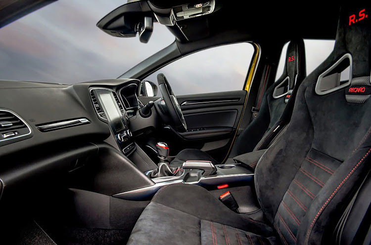 Recaro seats hug your body during hard cornering.