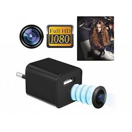 Incarcator de priza cu camera spion HD si functie de detectare a miscarii