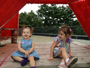 Photo: Madeline and Greta. deCordova Museum. Lincoln, Massachusetts.