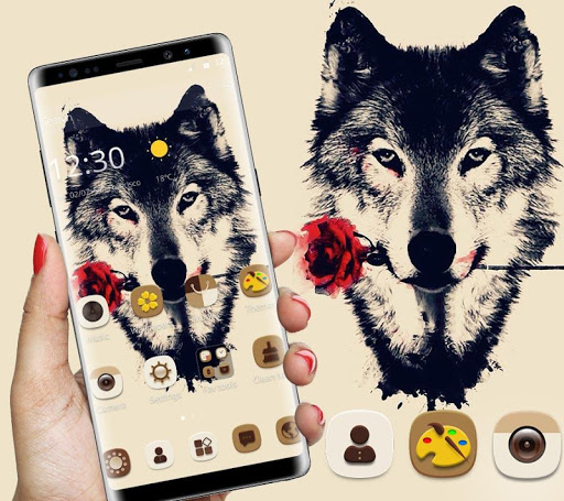 Tattoo Rose Romantic Wolf Theme 1.1.4 screenshots 2