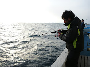 Photo: 最後は、初乗船のヨシダさん!