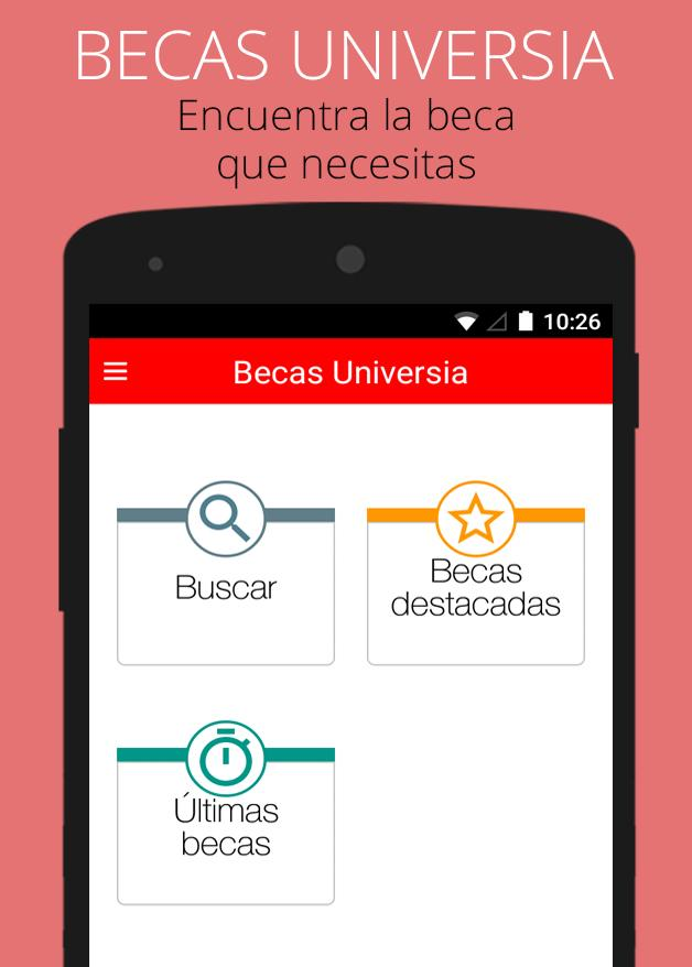 Becas Universia: captura de pantalla