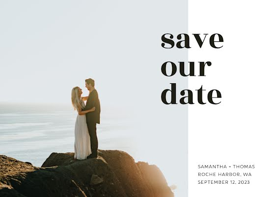 Samantha & Thom's Wedding - Wedding Invitation Template