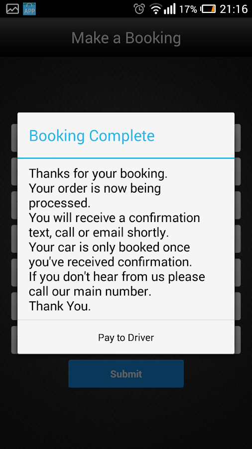 Booking Limos- screenshot