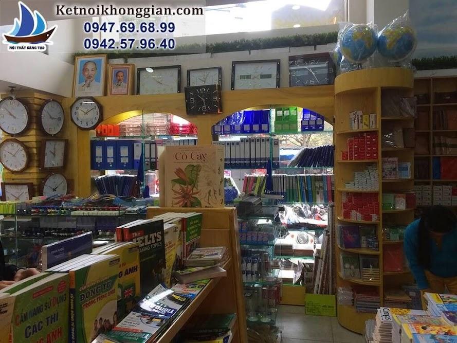 thiết kế nội thất nhà sách cho sức chứa lớn