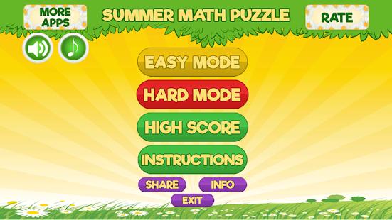 Summer Math Puzzle - náhled