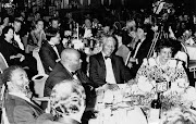 ANC stalwarts Thabo Mbeki, Roger Sishi and Nelson and Winnie Mandela attend a banquet at the Carlton Hotel in 1991.