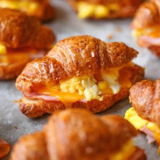 Croissant Sandwich Lunch Recipes.
