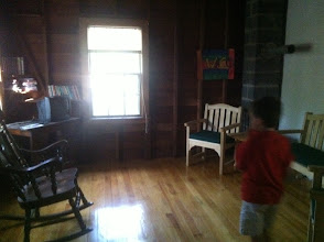 Photo: Living Room area inside the Staff Building. In Cottington Woods, we may be using this as the main Monster Camp location.